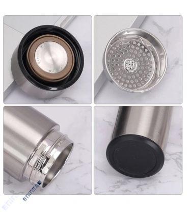 Θερμός Ανοξείδωτος 500ml Idrink Color Silver ID0201