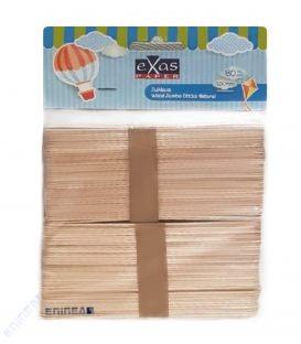Ξυλάκια Φυσικό Χρώμα 15cm EXAS PAPER 80τεμ