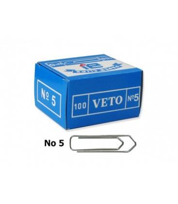 Συνδετήρες Veto Ν5 100τεμ. 47mm