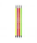 Μολύβι HB Bic Evolution Fluo Με Γόμα