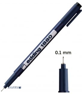 Μαρκαδόρος 01 Edding 1880 Σχεδίου 0.1 mm
