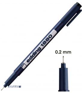 Μαρκαδόρος 02 Edding 1880 Σχεδίου 0.2 mm