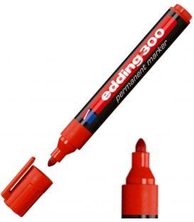 Μαρκαδόρος Edding 300 Ανεξίτηλος Κόκκινο