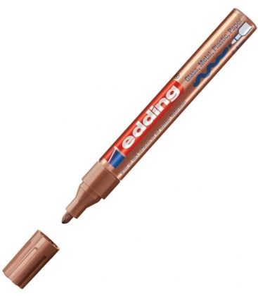 Μαρκαδόρος Edding 750/55CR Fine Paint Marker Μπρούζινος