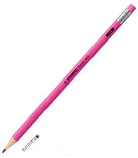 Μολύβι 2B Stabilo 4907 Neon Φουξια
