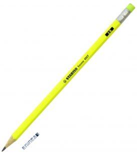 Μολύβι 2B Stabilo 4907 Neon Κίτρινο