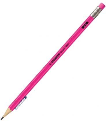 Μολύβι 2B Stabilo 4907 Neon Ροζ