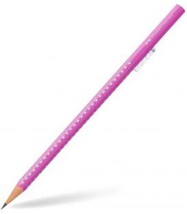 Μολύβι B Faber Castell 118302 Sparkle Μεταλλικό Φούξια