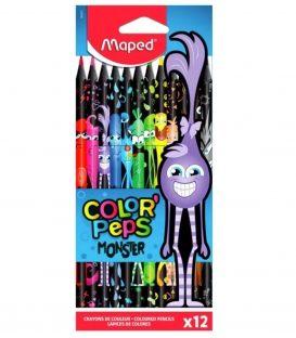 Ξυλομπογιές Maped 12χρ Monster Τερατάκια