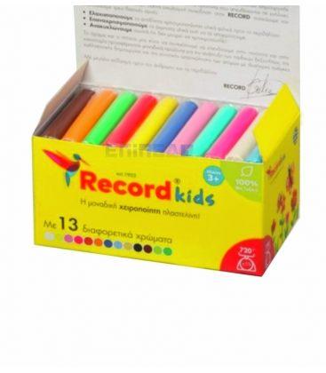 Πλαστελίνη Record Kids 13Χρ 720gr