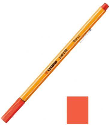 Μαρκαδοράκι 88/48 Stabilo Point 0.4 Κόκκιν