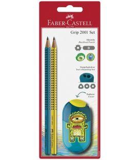 Σετ Faber Castell Grip 2 Μολύβια Ξύστρα