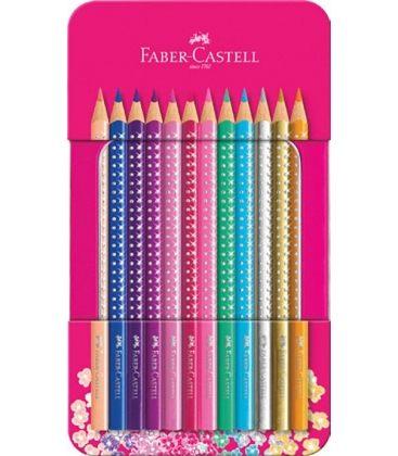 Ξυλομπογιές Faber Castell 12 Χρ. Grip Μεταλλική Κασετίνα