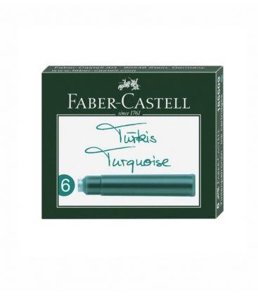 Μελάνι Πένας Faber Castell Αμπούλες 6τεμ Turquoise