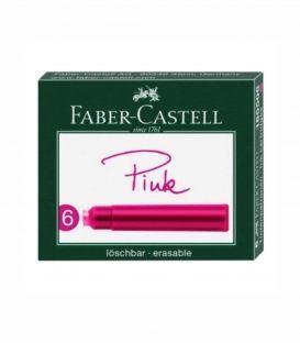 Μελάνι Πένας Faber Castell Αμπούλες 6τεμ Pink