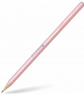 Μολύβι B Faber Castell 118201 Grip Sparkle Pοζ