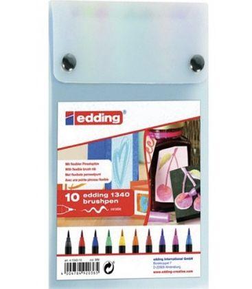 Μαρκαδόροι Edding E-1340 brushpen Πινέλο 10τεμ.