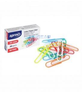 Συνδετήρες Spree No5 30τεμ 50mm Χρωματιστοί
