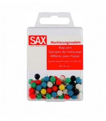 Καρφίτσες Sax 80τεμ Φελοπίνακα Χρώματα
