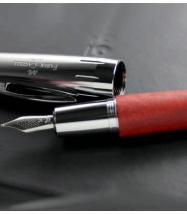 Πένα Faber Castell E-Motion wood fountain pen M reddish brown