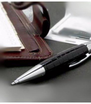 Στυλό Faber Castell E-Motion precious resin croco twist ballpoint pen B black