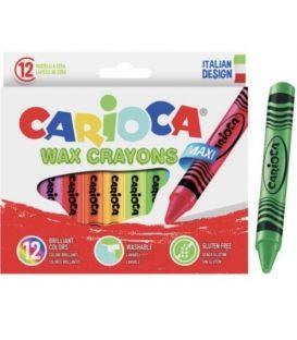 Κηρομπογιές Carioca 12τεμ Wax Crayons