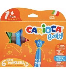Μαρκαδόροι Carioca 6χρ +1 Teddy 42815