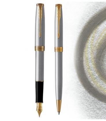 Στυλό και Πένα Σετ Parker Sonnet Stainless Steel gt