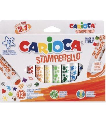 Μαρκαδόροι Carioca 12χρ Με Σφαγίδα Stamperello