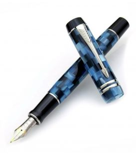 Πένα Parker Duofold Pearl Check BlueFountain Pen
