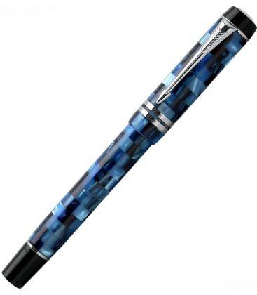 Πένα Parker Duofold Pearl Check BlueFountain Pen