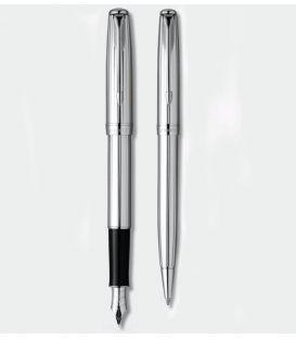 Στυλό και Πένα Σετ Parker Sonnet Chrome Cannelle Set Shine