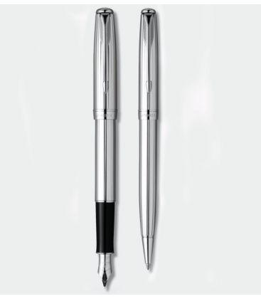 Στυλό και Πένα Σετ ParkerSonnet Chrome Cannelle Set Shine