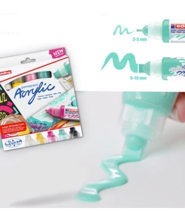 Μαρκαδόρος Edding 5400 Ακρυλικός 2-3/5-10mm Mellow mint