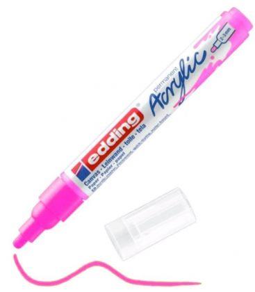 Μαρκαδόρος Edding 5100 Ακρυλικός 2-3mm Fluorescent pink