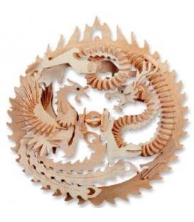 Ξύλινη κατασκευή 3D Δράκος