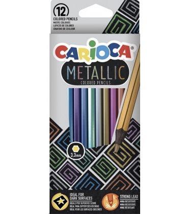 Ξυλομπογιές Carioca 12χρ Metallic