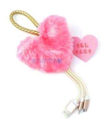 Μπρελόκ Usb Cable Funky Fish Pink Leopard Heart Grl Gang