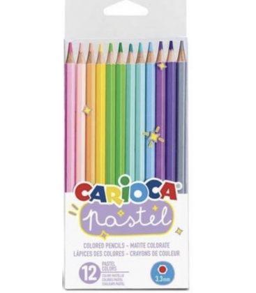 Ξυλομπογιές Carioca 12χρ pastel